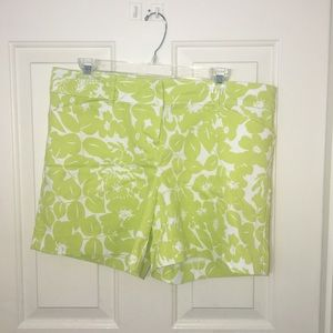 The Limited Green Floral Shorts-12